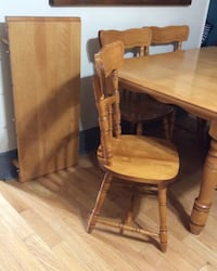 brown wooden table with chair Central Frontenac, K0H 2E0