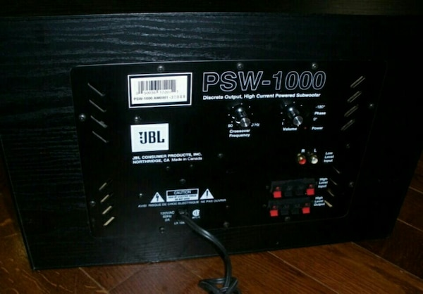 JBL PSW-1000 powered subwoofer