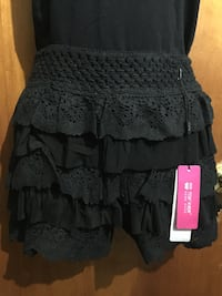 Black knitted shorts skirt Dorval, H9P 2A7