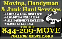 Moving, Junk Haul & Furniture Assembly Help Lodi