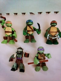 "5 Viacom ninja turtles 6"" action figures with sound Toronto, M6K 1S6"