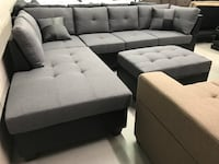 Brand new large grey fabric sectional sofa with storage ottoman warehouse sale  多伦多, M1T 3W9