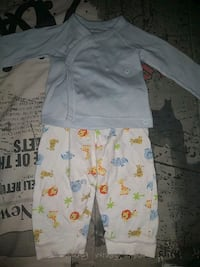 3-6 months button long sleeve and pants