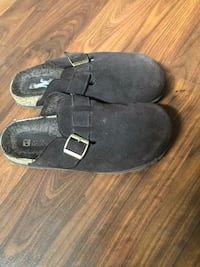 White Mountain brown Swede shoes.