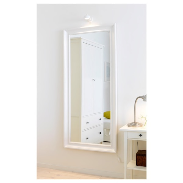 White Hemnes Wall Mirror from Ikea 82d22000-3bd8-40ff-be5e-d63abf03c166
