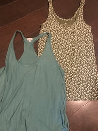 Lot of two women's name brand cotton tanks ~ med/large Surrey, V4N 6A2