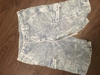 gray and white floral short shorts 485 km