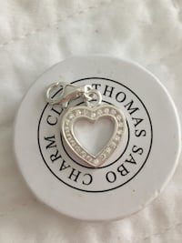Authentic Thomas Sabo Crystal Heart Charm null