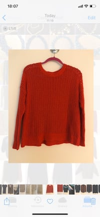 red scoop-neck sweater Arlington, 22203