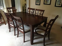 Cherry Wood Extended Dining Table + 6 Chairs (Center piece removes)  Mc Lean, 22102