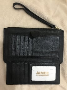 Wallet purse Black Leather