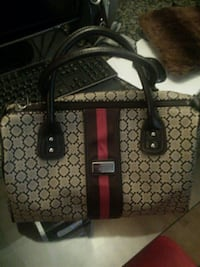 brown and black Gucci leather tote bag Port Coquitlam