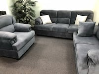 New 3 Piece Living Room Set. Blue Grey. Free Delivery ! Culver City