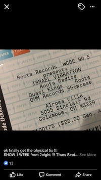 two black and white tickets Columbus, 43215