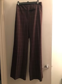Brand new beautiful stretchy brown check pant, addition elle, size 16
