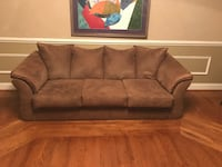 brown suede 3-seat sofa Waldorf, 20602