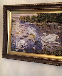 Handmade needlepoint picture frame Laval, H7W 4E3