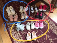 Girls shoes size 1-3 lot