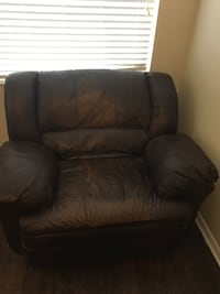 Brown leather recliner Sarasota, 34241