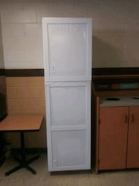 Really Tall White Storage Cabinet