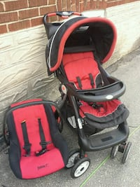 red and black travel system Cambridge, N1R 5P4