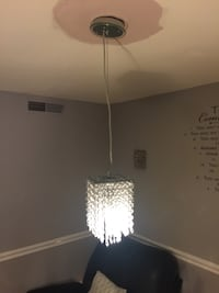 white and black pendant lamp Montgomery Village, 20886