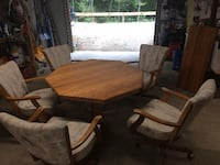 Oak dining table and chairs ASHFORD