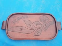 Authentic handcarved wooden tray