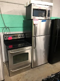 3pc. Stainless steel 30in fridge electric stove new microwave Baltimore, 21223