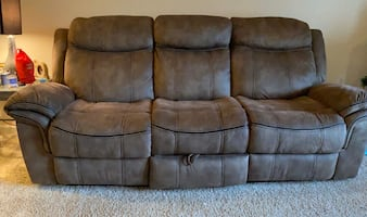 Reclining Sofa, Loveseat, and Chair with Outlets and USB