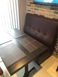 Restaurant booth with restaurant table  Mississauga, L5M 7X5