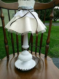 white bedroom hobnail table lamp Sparrows Point, 21219