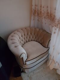 white and brown floral sofa chair Toronto