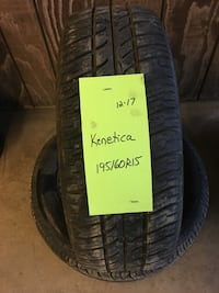 Pair of Kenetica 195/60R15 Tires for sale
