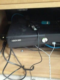 black xbox 360 console with controllers Ottawa, K4P 1M7