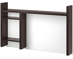 IKEA Micke add-on unit for desk, top half with shelves and white board