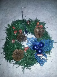 Handcrafted Small Broncos Wreath  Edgewater, 80214