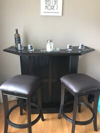 Wood bar set with two beautiful stools-FINAL DROP IN PRICE Lyndhurst, 07071