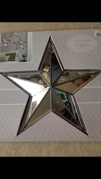 "Large mirrored star wall hanging. 23"" x 23"" Cherry Hill, 08034"