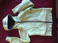 Women's white zip-up jacket null