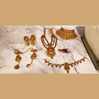 Indian Ethnic Gold Plated Bridal jewelry set