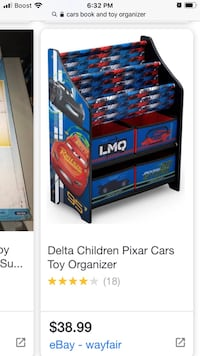 Cars - Book and toy organizer