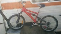 red and white hardtail mountain bike Surrey, V3R 2S7