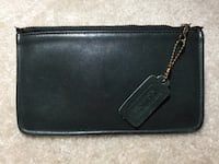Black Coach leather zip pouch Fairfax, 22032
