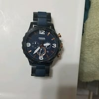 FOSSIL BLUE NATE WATCH 100 OBO