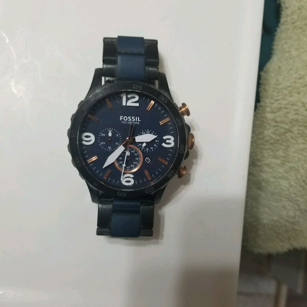 FOSSIL BLUE NATE WATCH 100 OBO 2e260e8f-a550-4eec-b07e-9f1add128dbe