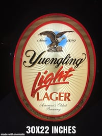 Red and white beer backlit sign  Baltimore, 21236