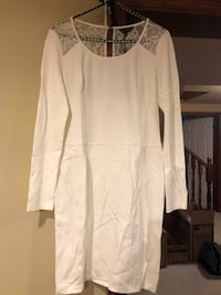 BRAND NEW, never worn, White Long Sleeve Dress with Lace Back Grimsby