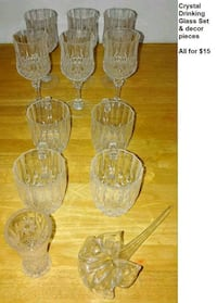 CRYSTAL DRINKING GLASS SET & Fort Lauderdale, 33334