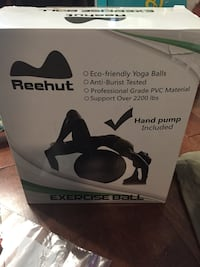 Reehut purple exercise ball brand new with pump   Hamilton, L8M 2B5